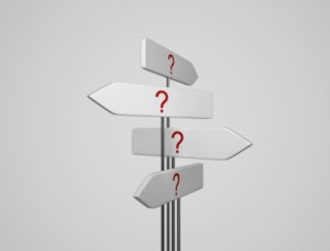 picture of question mark signpost
