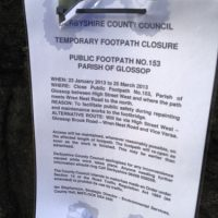 Tesco Footbridge Closure