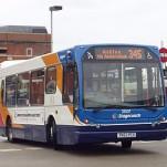 English: Stagecoach Manchester Scania N94UB wi...