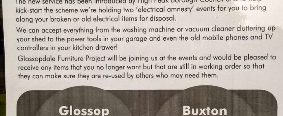 Small Electric Items Recycling Event