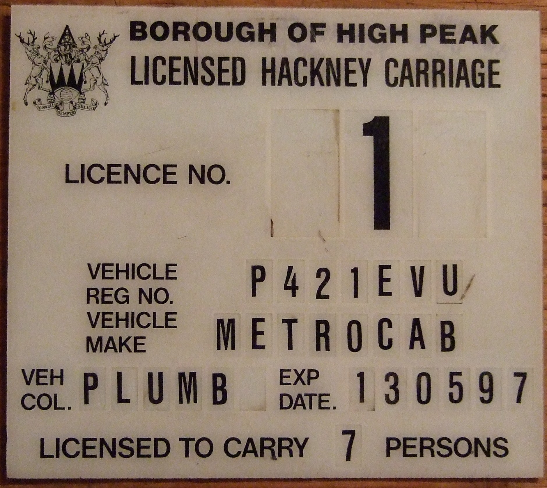 High Peak BC Consultation on Hackney Carriage - Private Hire Licensing Policy