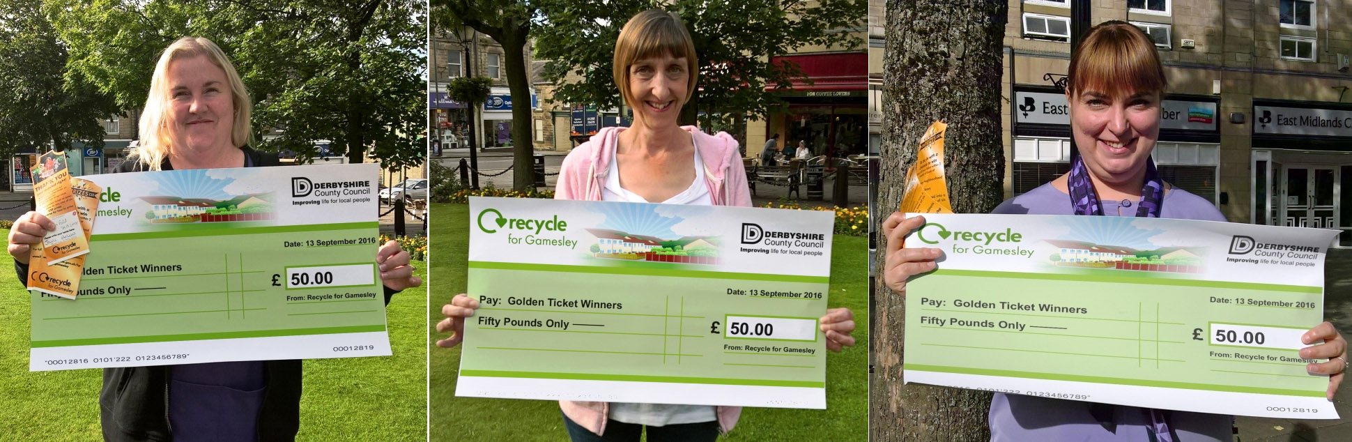 Gamesley's Lucky Recycling Golden Ticket Winners