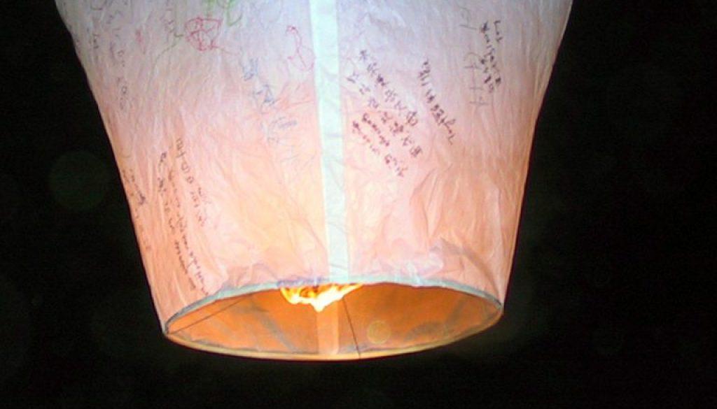 Sky lanterns and balloons