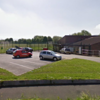 Gamesley Covid Testing photo of the car park at the Gamesley Community Centre